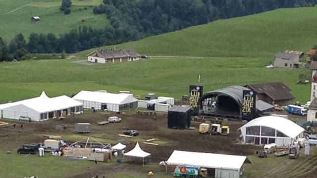 Luft-Aufnahme vom Festival-Gelände.