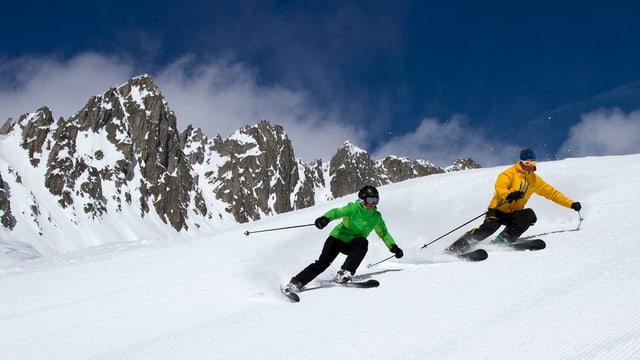 Ina skiunza ed in skiunz en il territori da skis Mustér.