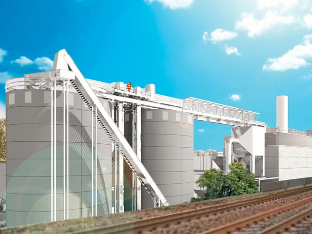 Damit eine Heizleistung von 19 Megawatt erreicht werden kann, müssen zwei haushohe Heizkessel gebaut werden.