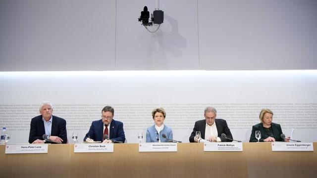 Bild der Medienkonferenz vom 11. März 2020 in Bern
