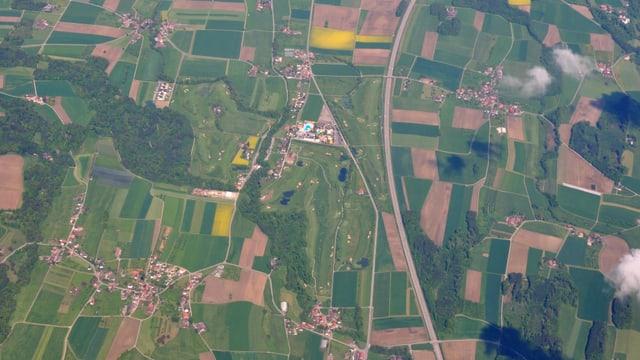 Vogelperspektive auf Lipperswil in der Thurgauer Gemeinde Wäldi.