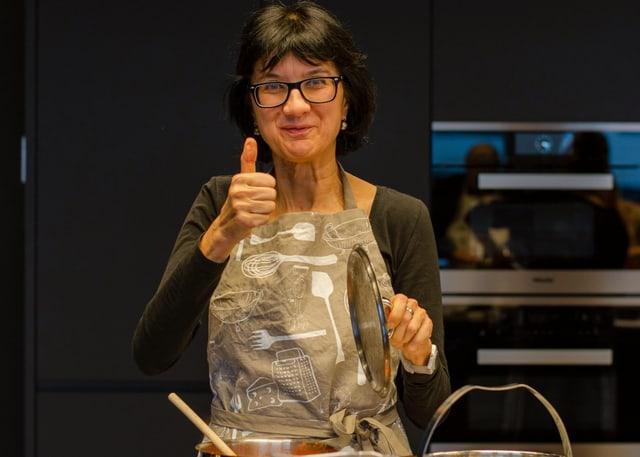 Michelle Veliu besuchte ebenfalls die Kochschule der A Point-Redaktion