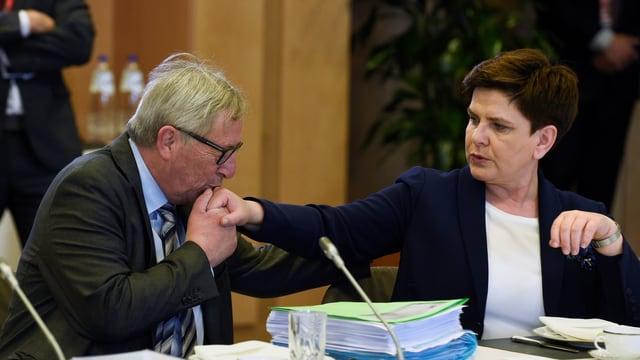 Jean-Claude Juncker und Beata Szydlo.