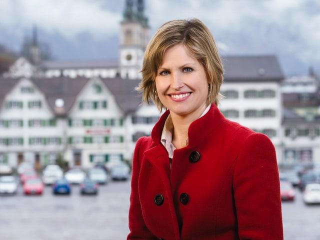 Auf dem Platz hinter Sabine Dahinden findet am 5. Mai die Landsgemeinde Glarus statt.