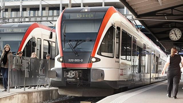Eine S-Bahn in Hochdorf.