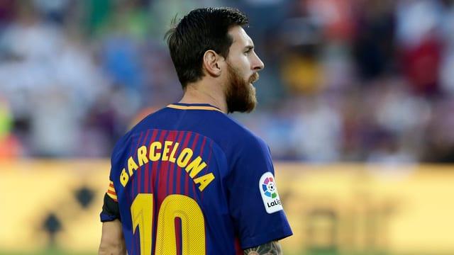 Messi cun il trikot da Barcelona