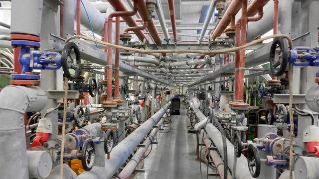 Die Maschinen sind durstig: Es braucht 180 Grad und 100 Tonnen Druck, um eine Schallplatte zu pressen.