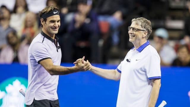 Roger Federer und Bill Gates