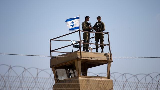 In post da l'armada israeliana al cunfin cun la strivla da Gaza.