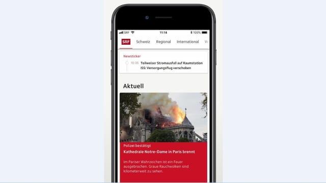 Startseite der SRF App