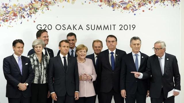 Purtret da 10 dals impurtants als G20.