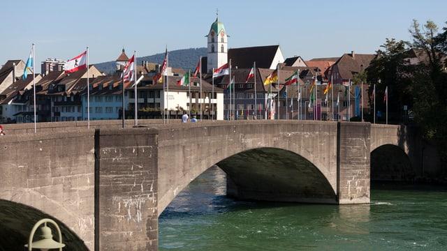 Brücke, Rhein, Altstadt