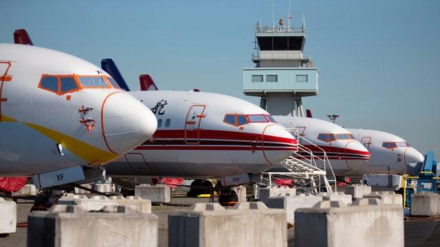 Gegroundete Boeing-Maschinen