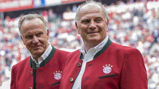 Karl-Heinz Rummenigge und Uli Hoeness.