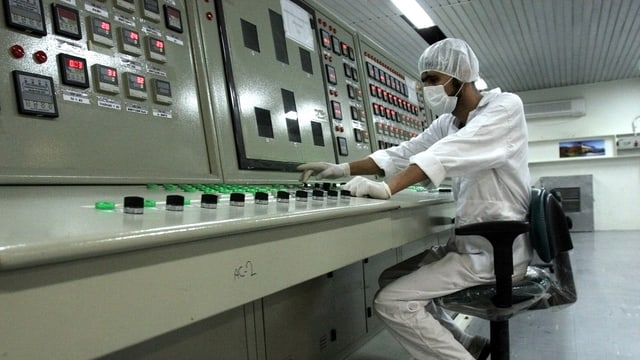 Schaltraum der iranischen Atomanlage Fordo bei Qom.