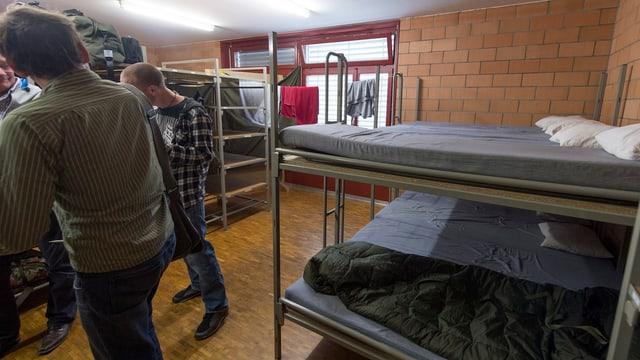 Blick in eine Asylunterkunft