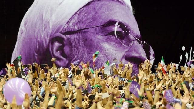 Wahlveranstaltung für Ruhani in Teheran.