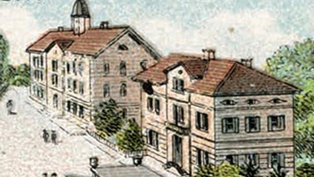 Alte Postkarte aus Dürrenäsch.