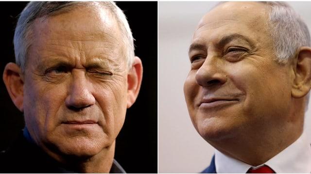Gantz und Netanjahu.