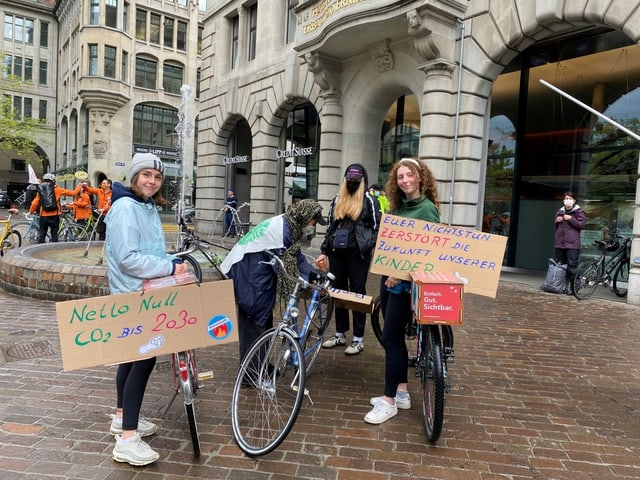 Aktivistinnen in Zürich