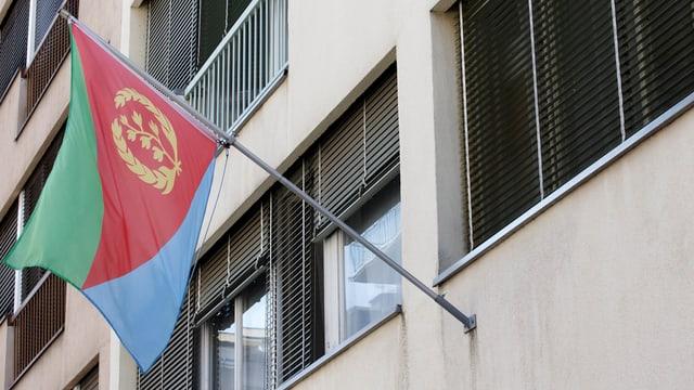 bandiera da l'Eritrea vid in bajetg a Genevra