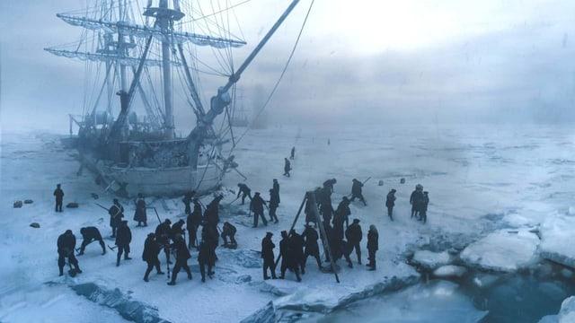 Das Expeditionsschiff «The Terror» bleibt im 19. Jahrhundert im ewigen Eis stecken.