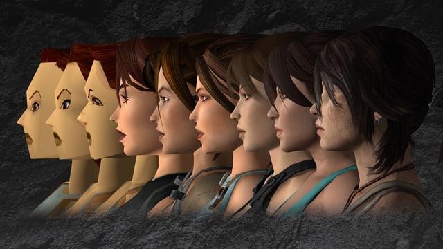 Die vielen Gesichter der Lara Croft in ihrer 20 Jährigen Geschichte.