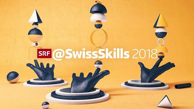 Logo von SwissSkills mit diversen Elementen