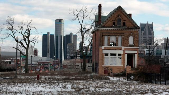 Detroit zeichnet sich heute durch die Leerflächen aus.