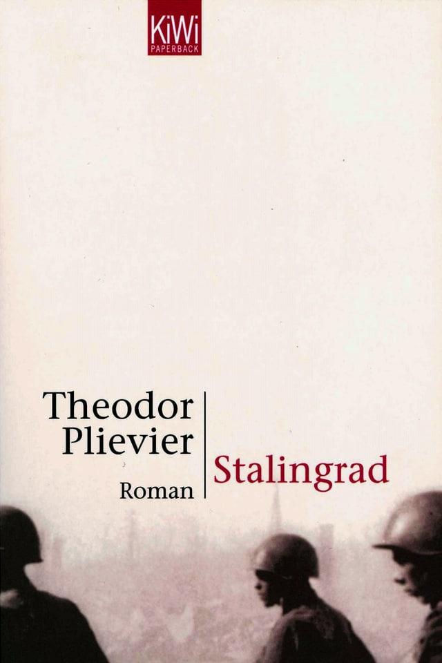 Buchcover: Drei Soldaten mit Helmen, im Hintergrung verschwommen eine Stadt, oben der Titel.