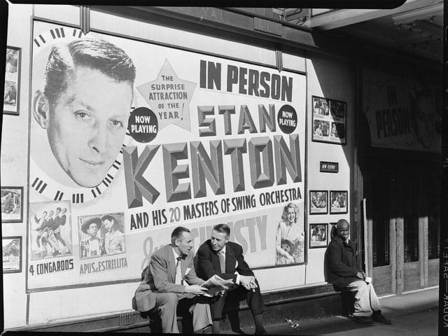 Stan Kenton und Band als Plakat.