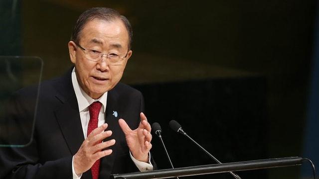 Ban Ki Moon, il secretari general da l'Organisaziun da las Naziuns Unidas.