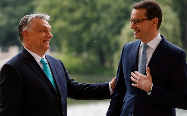 Orban und Morawiecki.
