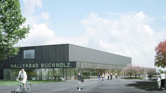 Visualisierung des renovierten Hallenbades in Uster.