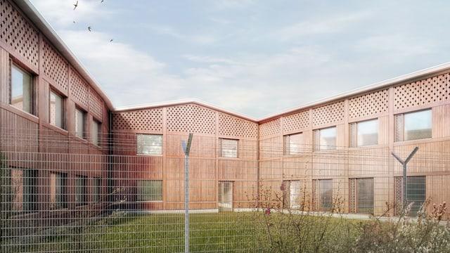 Eine Visualisierung des neuen Vollzugszentrums am Bachtel.