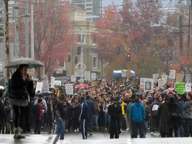 Demonstrationszug in Seattle