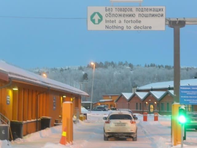 Grenzübergang Russland-Norwegen