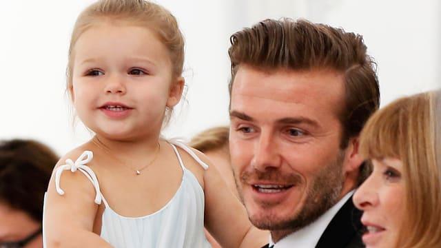 David Beckham mit Tochter Harper