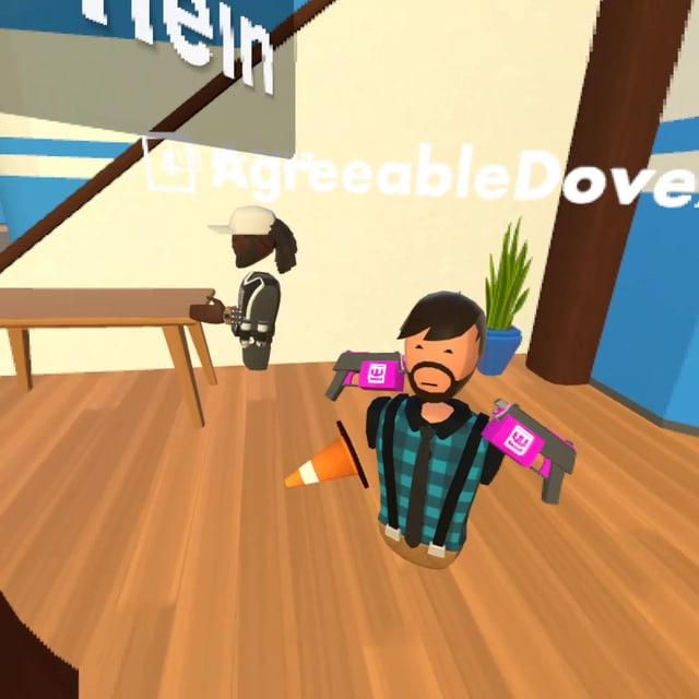 Zwei Avatare der Sociel-VR-Plattform «Rec Room»