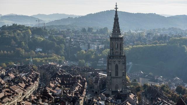 Blick auf die Berner Innenstadt.