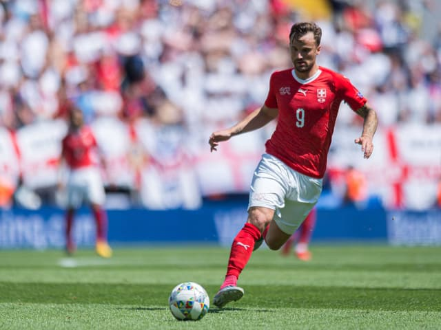Haris Seferovic im Einsatz für die Schweizer Nationalmannschaft.