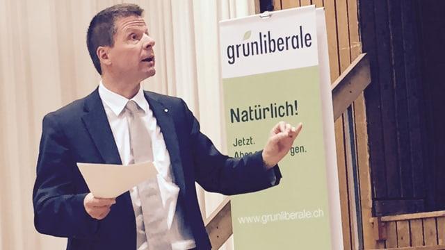 Tritt als Ständerat und Nationalrat an: Parteichef Martin Bäumle an der Versammlung der GLP in Dietlikon.