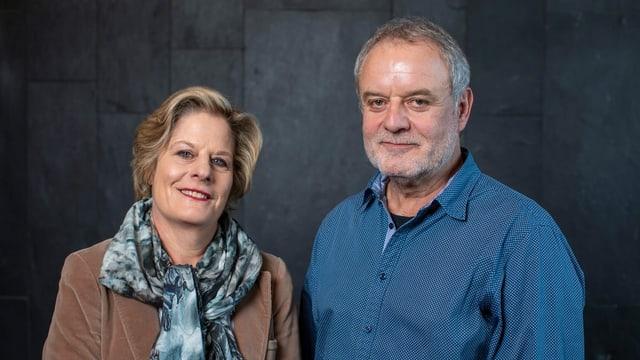 Seit April 2020 das Duo der Ombudsstelle der SRG Deutschschweiz: Esther Girsberger und Kurz Schöbi