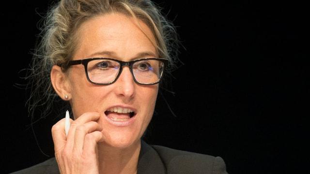 Susanne Hochuli an einem Kongress