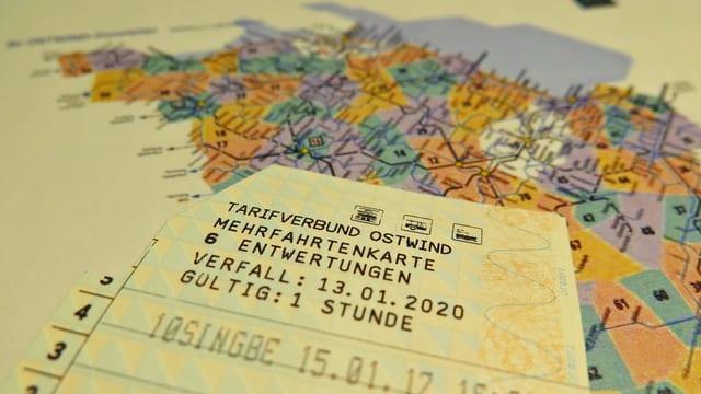 Zonenkarte Tarifverbund Ostwind