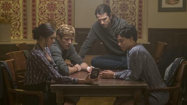 Von links nach rechts: Nina Dobrev, James Norton, Diego Luna und Kiersey Clemons in «Flatliners».