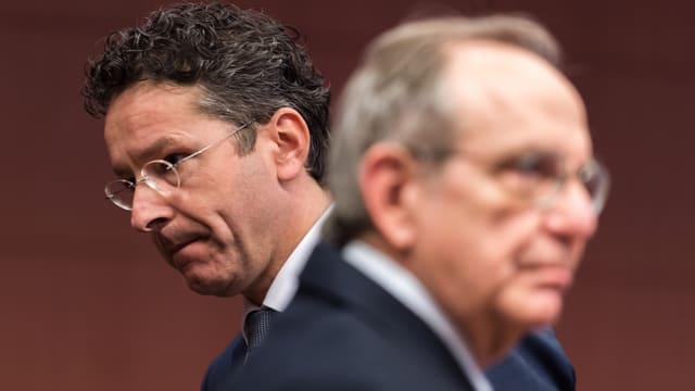 Politiker am Euro-Finanzministertreffen