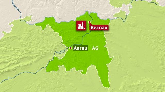 Karte Kanton Aargau