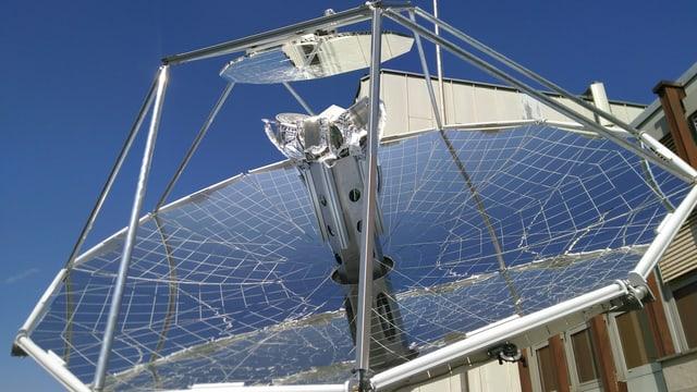 Dieser Solarreaktor auf dem Dach der ETH produziert aus Sonnenlicht Treibstoff