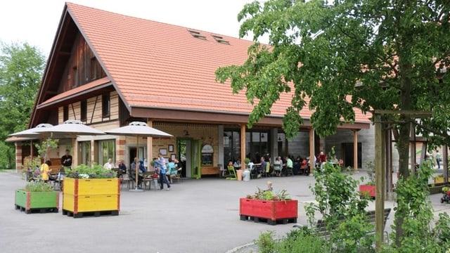 Blick auf das Restaurant «Burgrainstrube» in Alberswil.